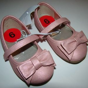 Rampage Girls Bow Pink Shimmery Flats Lil Lucie